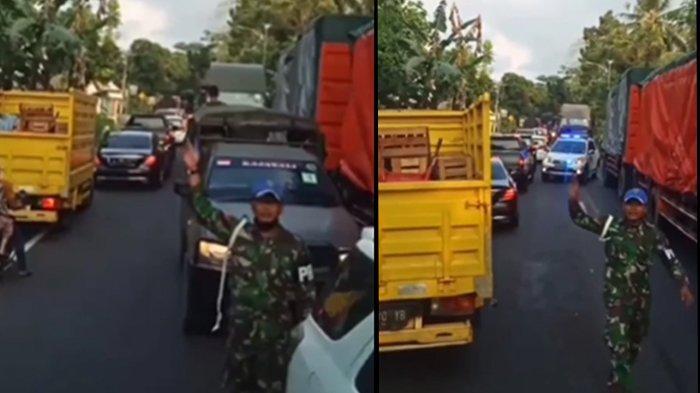 berita viral supir truk tak beri jalan rombongan tni